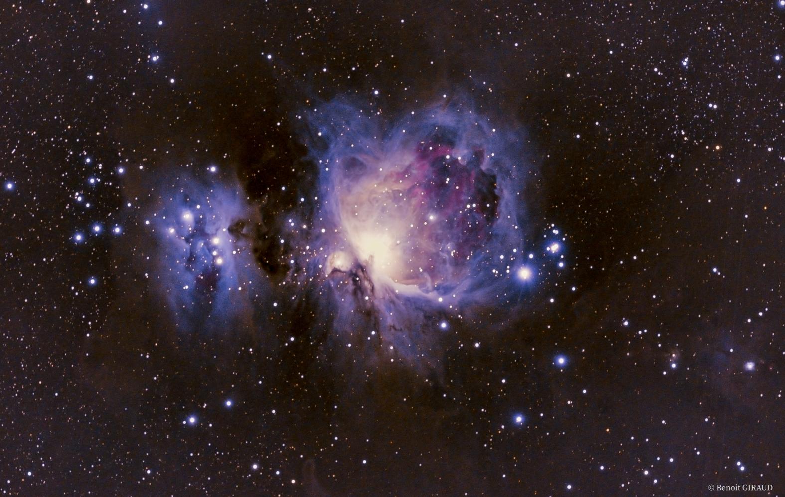 Nébuleuse d'Orion au télescope