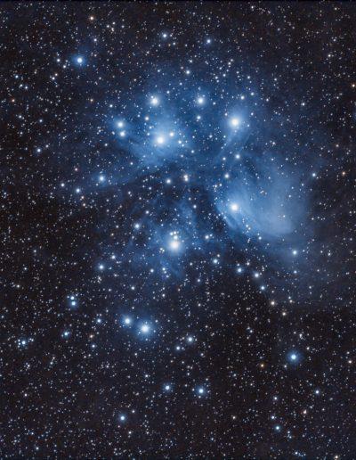 Amas des Pléiades au télescope