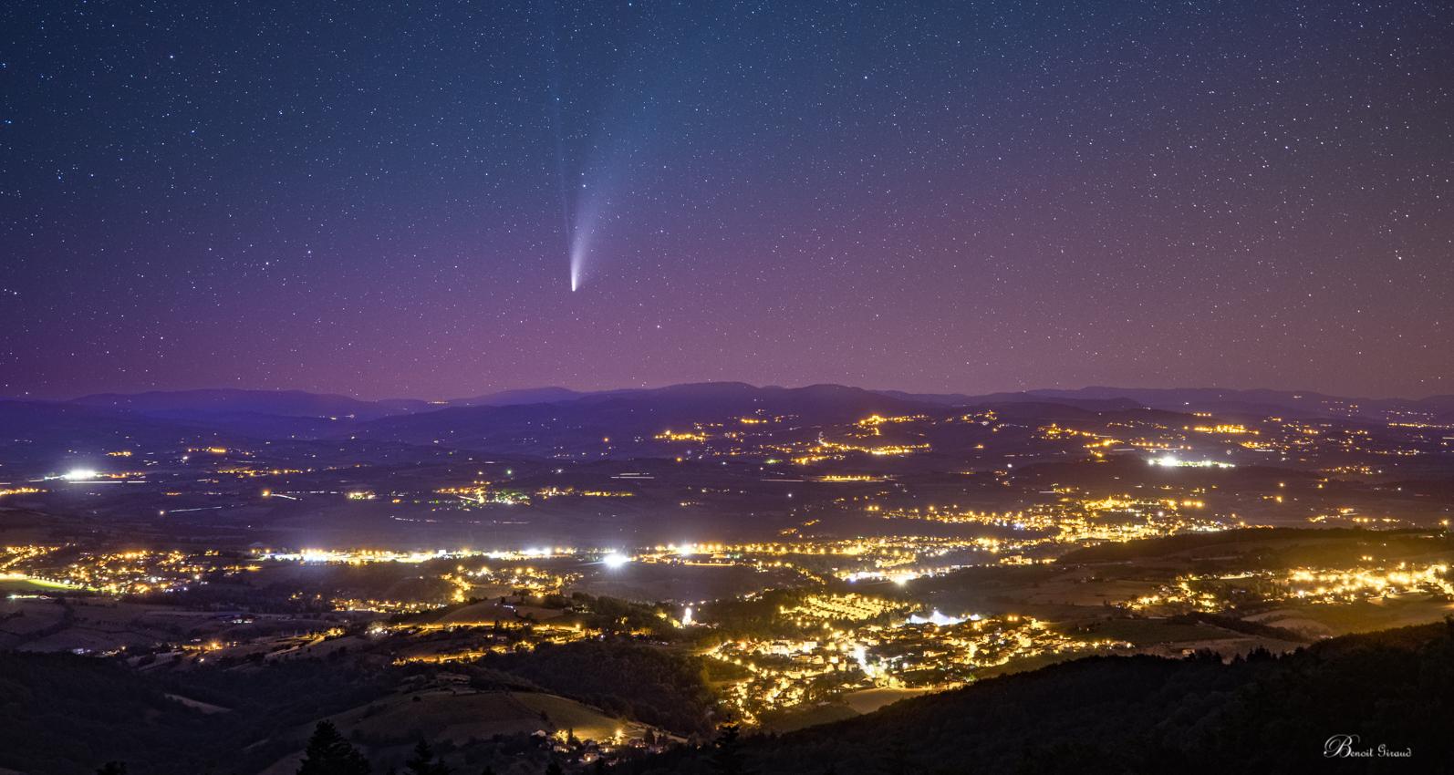Comète Neowise au dessus du pays de l'Arbresle