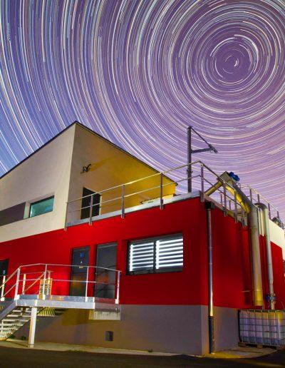 Circumpolaire, Véolia - Saint Bel. Trajet des étoiles autour de l'étoile polaire pendant 4 heures