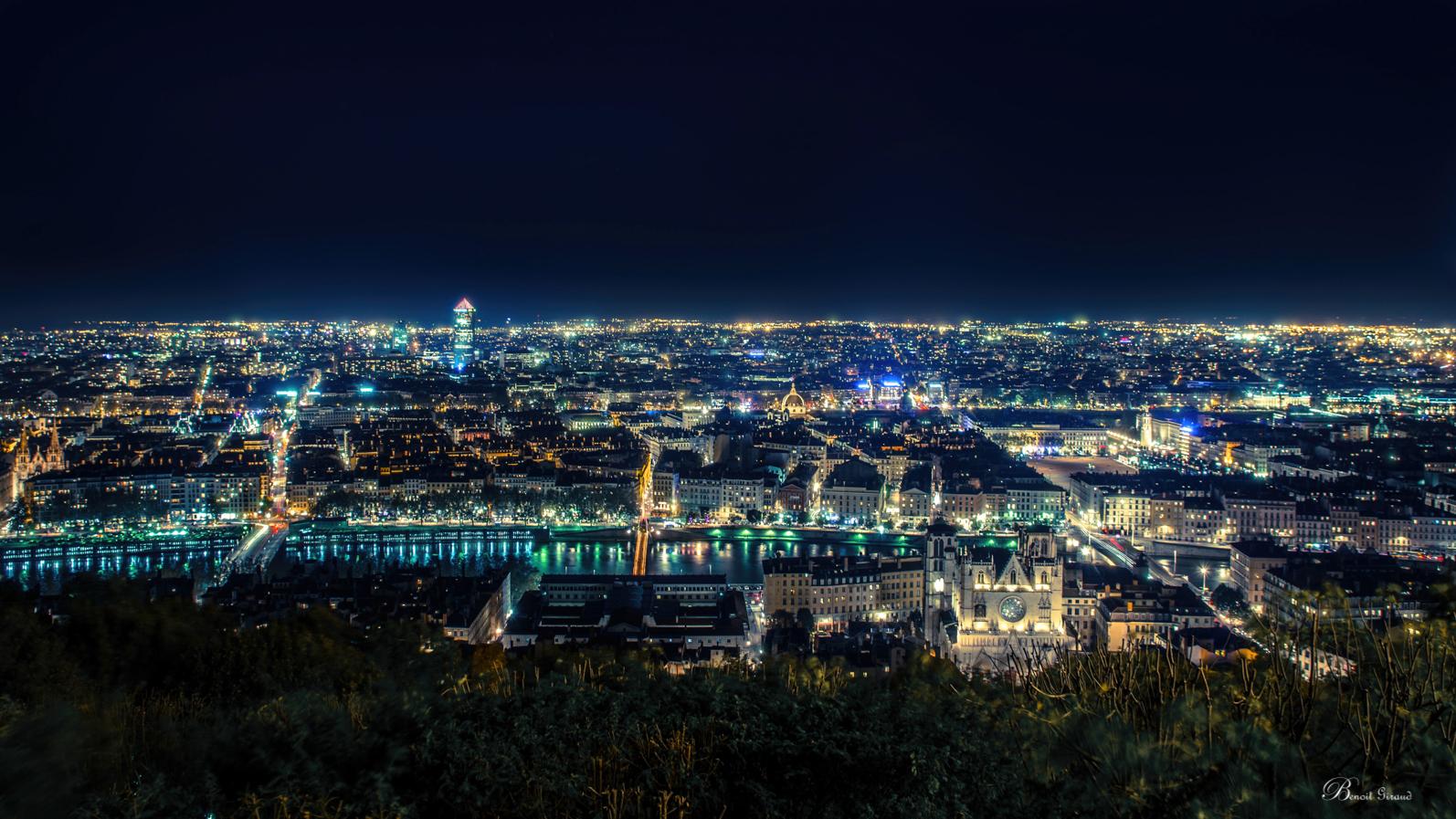 Lyon depuis la Basilique de Fourvière