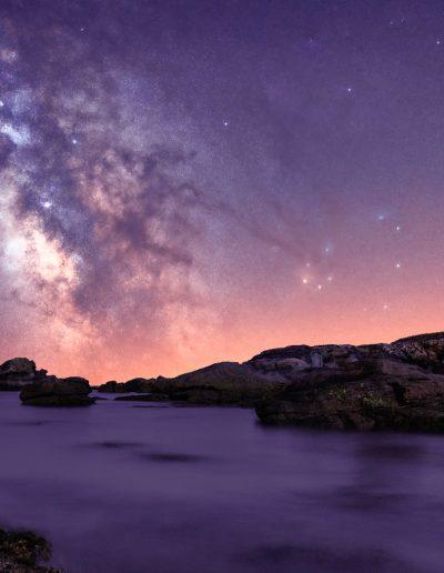 Levé de Voie Lactée en Bretagne
