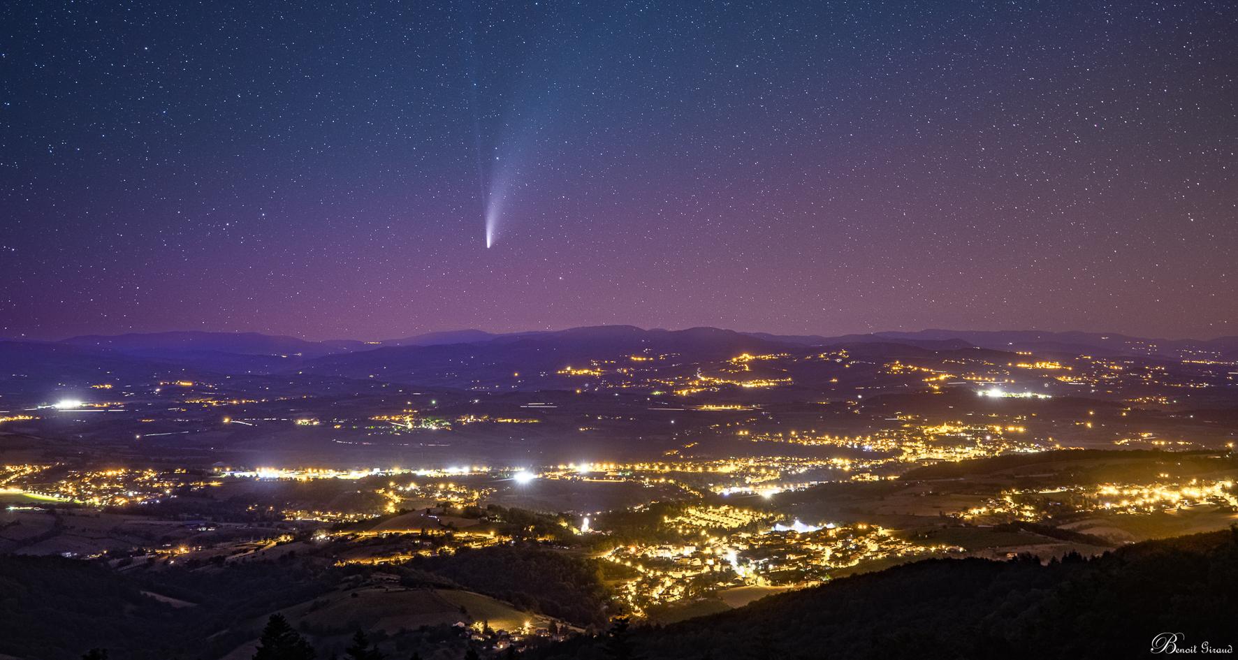 Comète Néowise au dessus de l'Arbresle